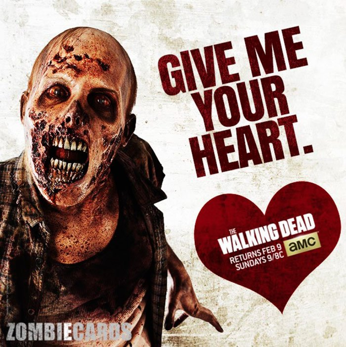 Details On The Walking Dead Valentines Day ZombieEcards