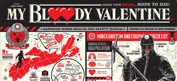 New MY BLOODY VALENTINE 1981 Art Print From Ghoulish