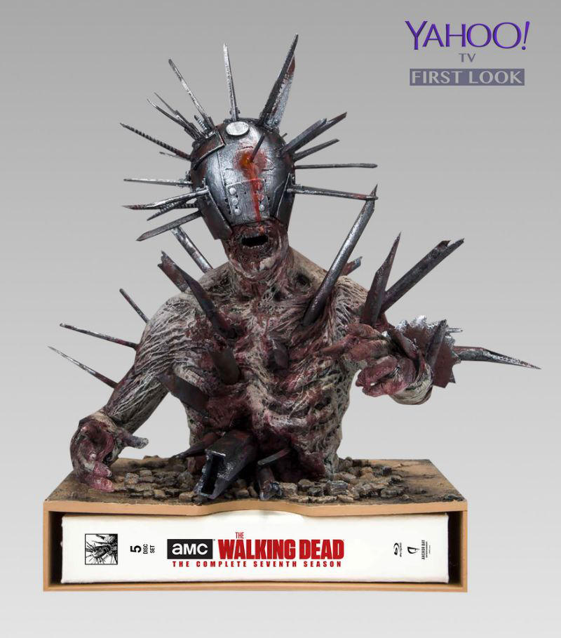 THE WALKING DEAD Season 7 Limited Edition Blu-ray Images Reveal McFarlane's Statue of Spiked ...
