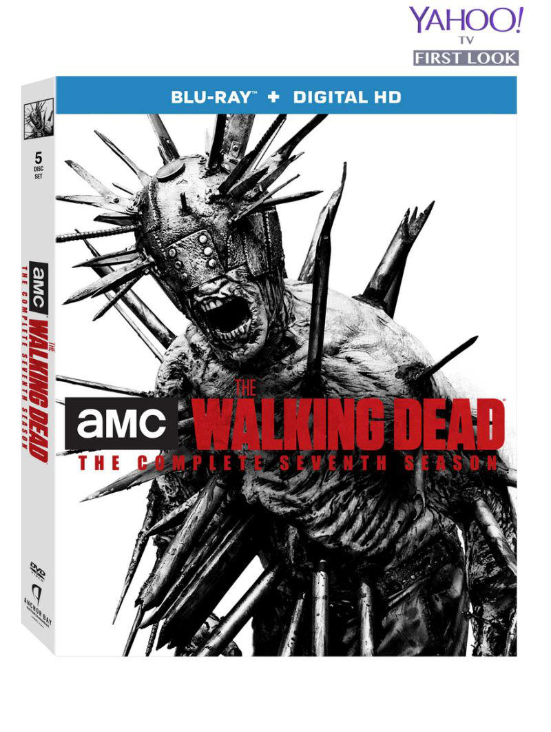 The Walking Dead Season 7 Limited Edition Blu Ray Images Reveal Mcfarlane S Statue Of Spiked Walker Winslow Daily Dead