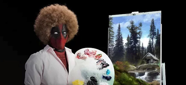 The Merc with a Mouth Dresses as Painter Bob Ross in New