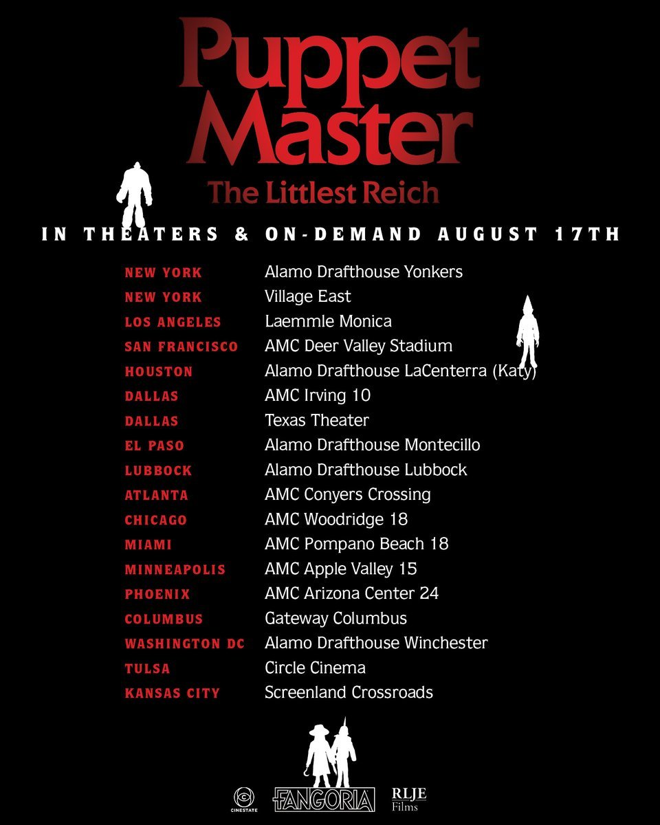 Theatrical Screening Locations Announced for PUPPET MASTER