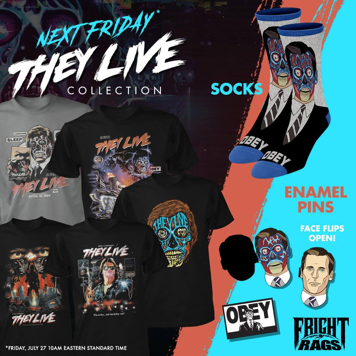 9501478d Fright Rags to Celebrate Upcoming 30th Anniversary of John Carpenter's THEY  LIVE with New Apparel Collection