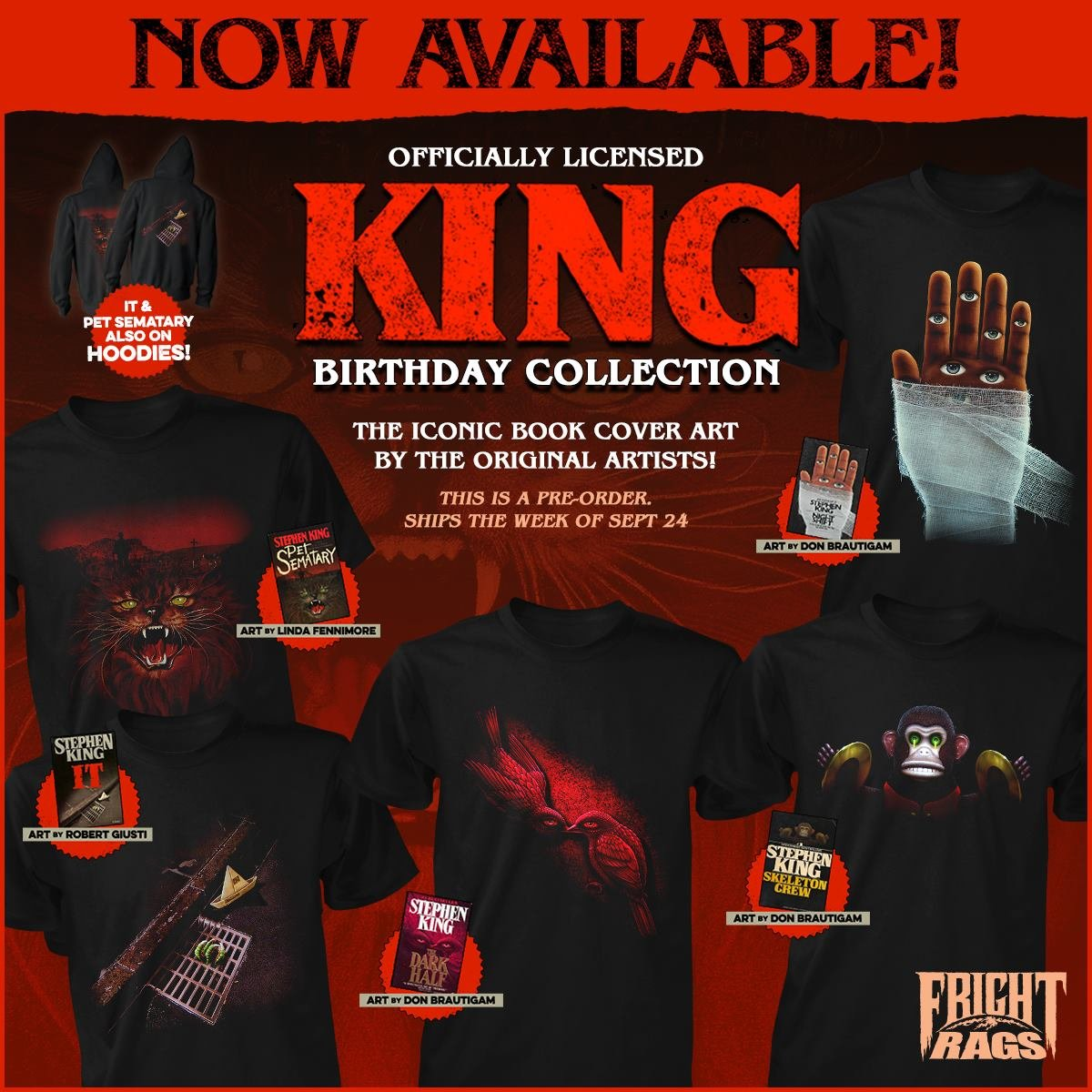 0e1208580 Fright Rags' New Shirt Collection Features Artwork from Iconic Stephen King  Book Covers