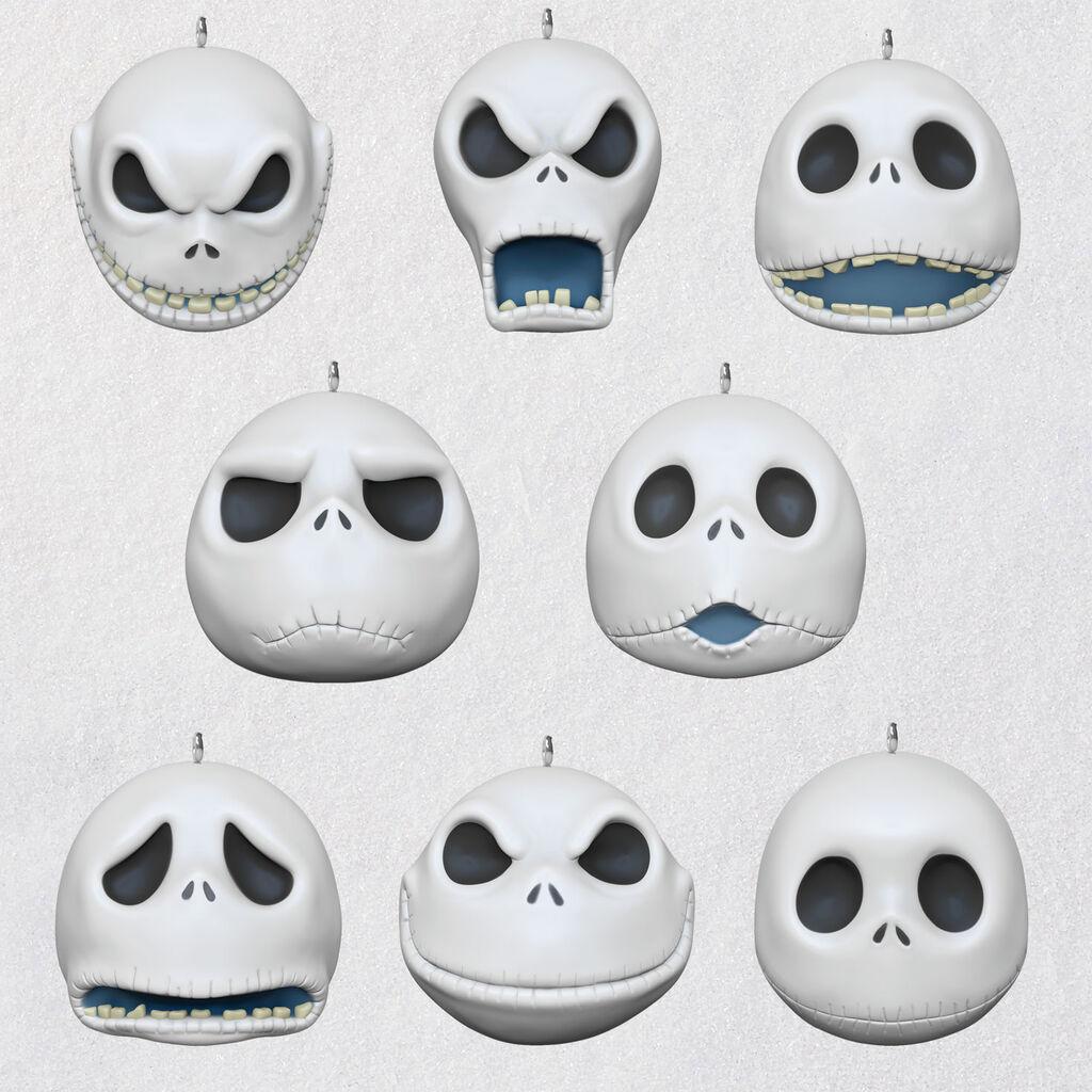 Mini Nightmare Before Christmas Jack Faces Porcelain Keepsake Ornaments Set 3999qxm8354 01 Daily Dead